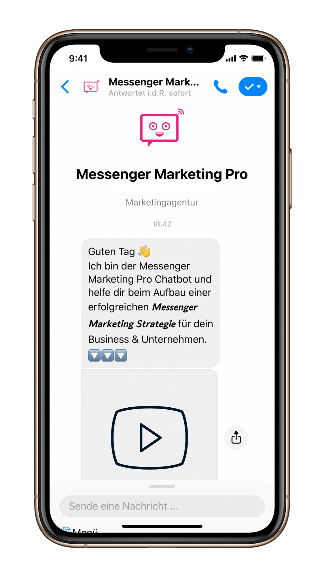 Messenger Marketing via Facebook Chatbot